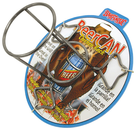Bayou Classic Nickel-Plated Chickcan Rack