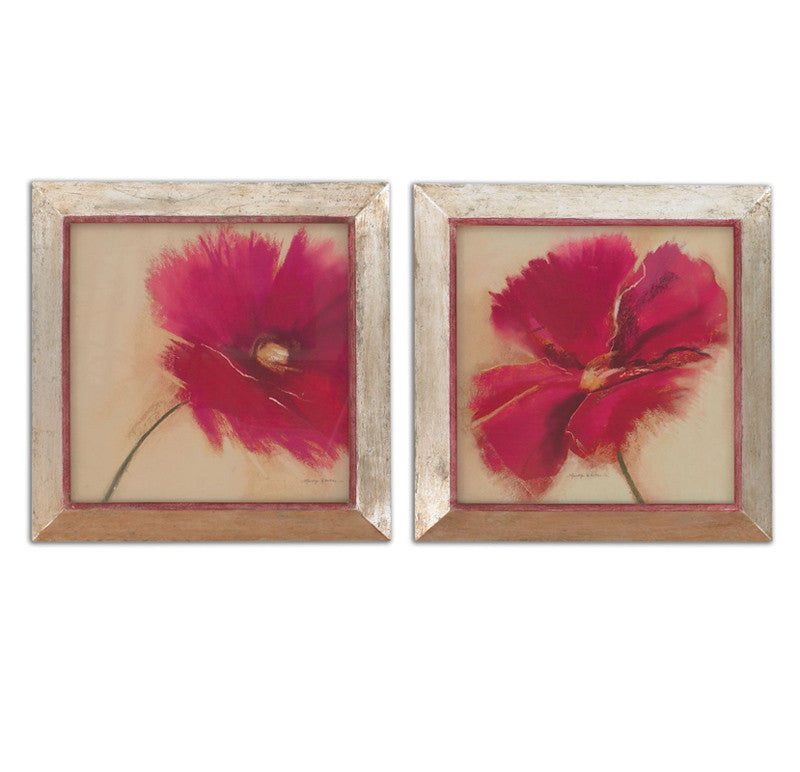 Uttermost 35227 Poppy Power Floral Art Set/2