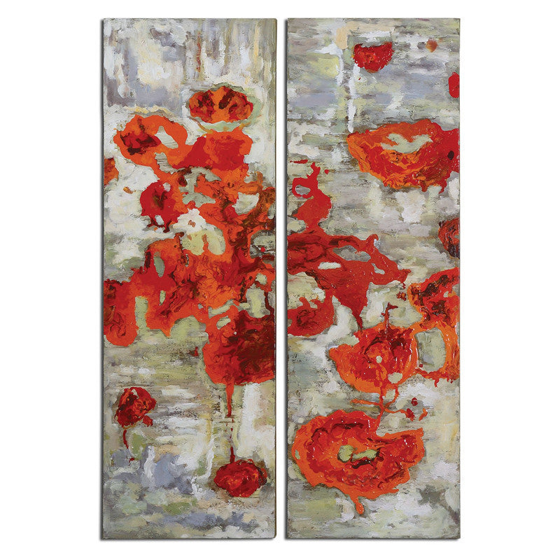 Uttermost 31201 Scarlet Poppies Floral Art S/2