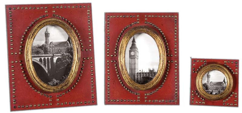 Uttermost 18553 Abeo Red Photo Frames Set/3