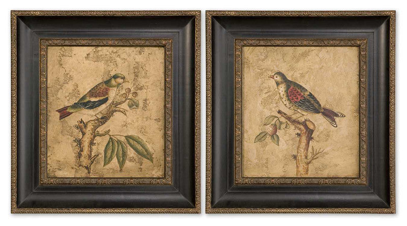 Uttermost 41161 Colorful Birds On Branch I Ii -S/2 Art