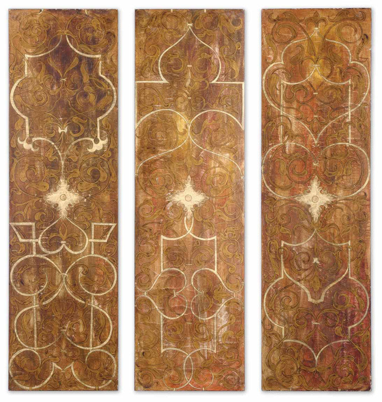 Uttermost 32132 Scrolled Panel I Ii Iii S/3 Art