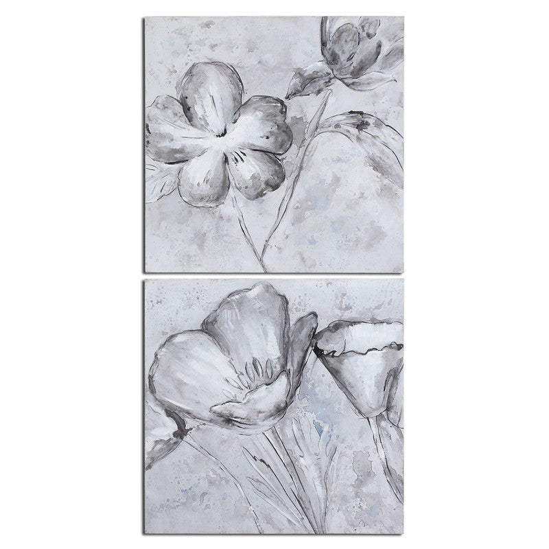 Uttermost 34261 Florals In Black And White Art S/2