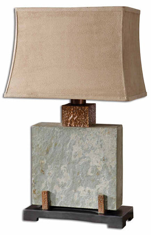 Uttermost 26321-1 Slate Square Table Lamps - UTMDirect