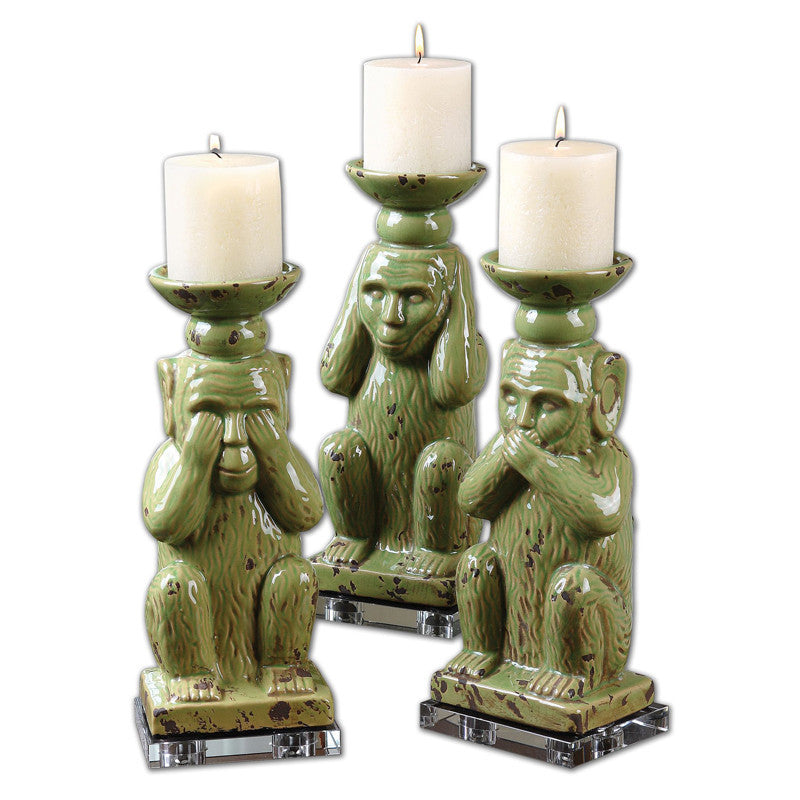 Uttermost 19864 Toma Ceramic Candleholders S/3