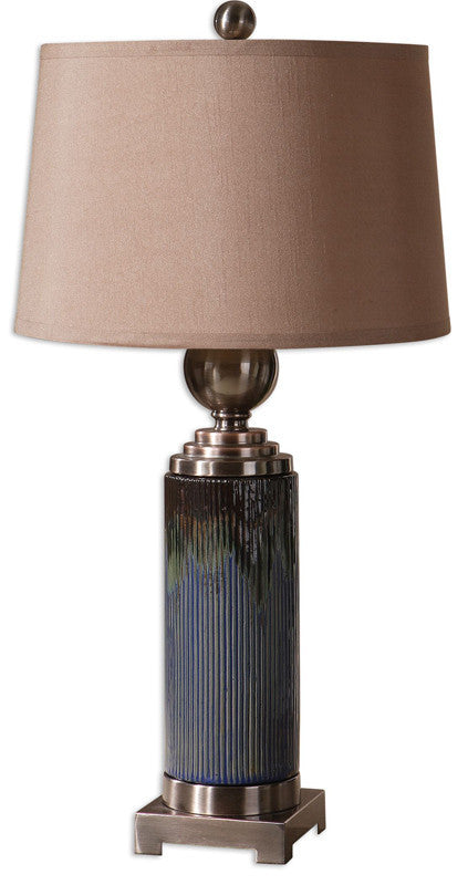 Uttermost 26441 Montagano Ribbed Table Lamp