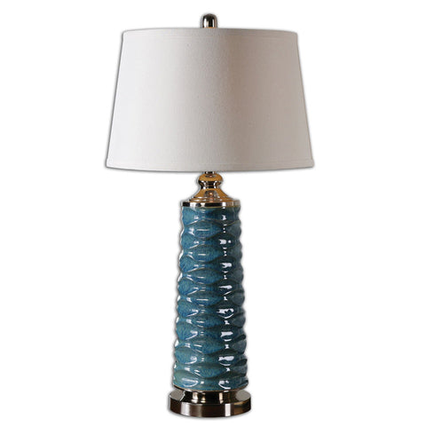 Uttermost 26567 Delavan Rust Blue Table Lamp - UTMDirect
