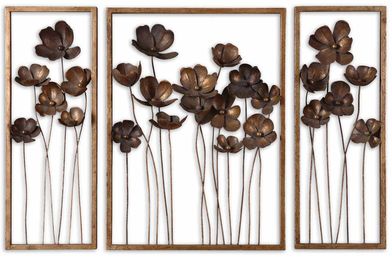 Uttermost 12785 Metal Tulips S/3 Mirrors