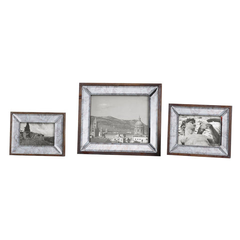 Uttermost 18567 Daria Antique Mirror Photo Frames S/3 - UTMDirect
