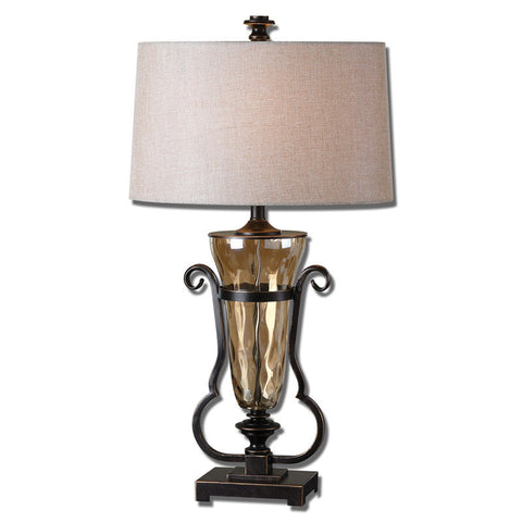Uttermost 26594 Aemiliana Amber Glass Table Lamp - UTMDirect
