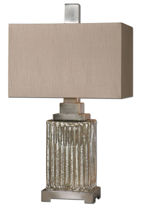 Uttermost 26289-1 Canino Mercury Glass Table Lamp