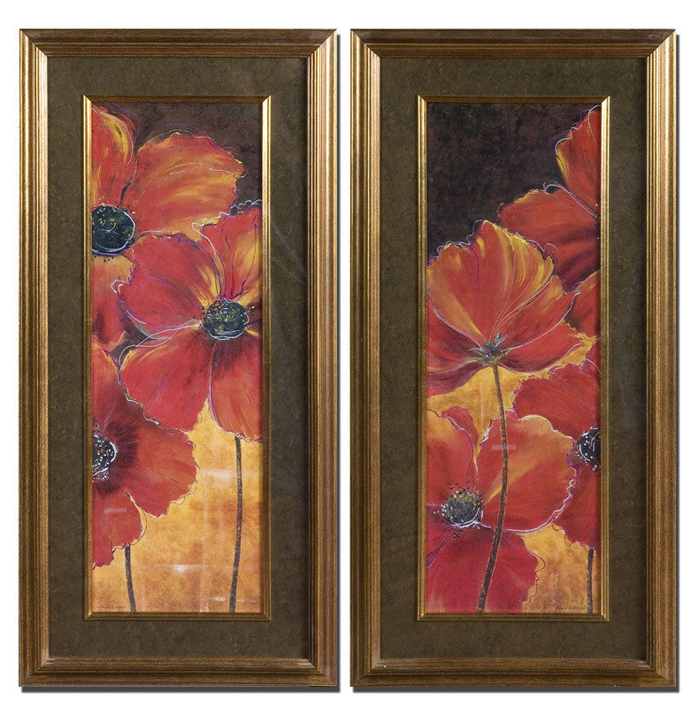Uttermost 33557 Midnight Poppy Floral Art Set/2