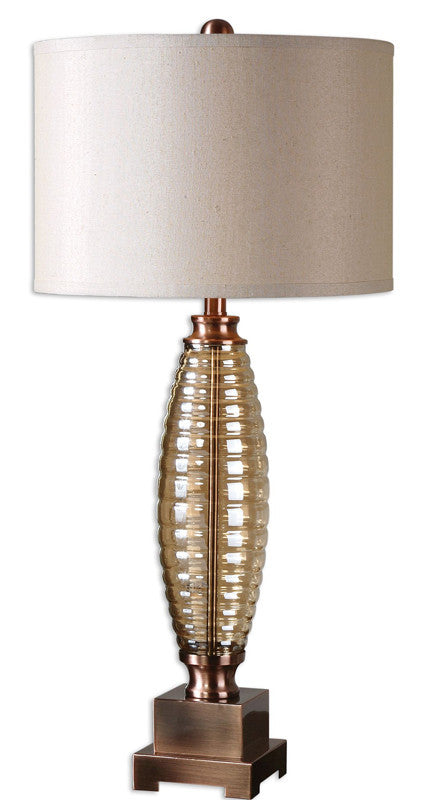 Uttermost 26486-1 Morrone Ribbed Glass Lamp
