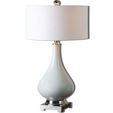 Uttermost 26768-1 Helton White Table Lamp - UTMDirect