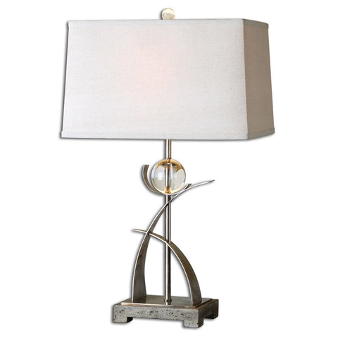 Uttermost 27746 Cortlandt Curved Metal Table Lamp - UTMDirect