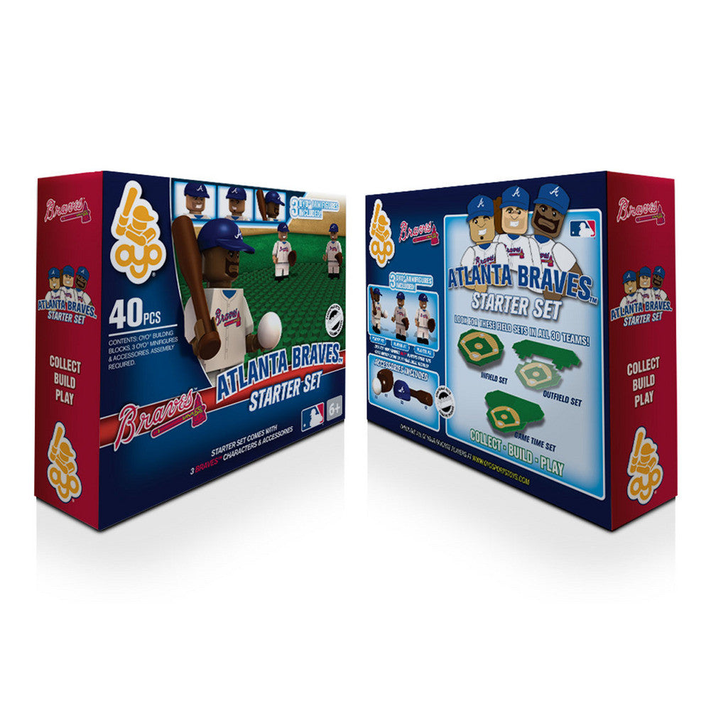 OYO MLB Practice Field Set  - Atlanta Braves