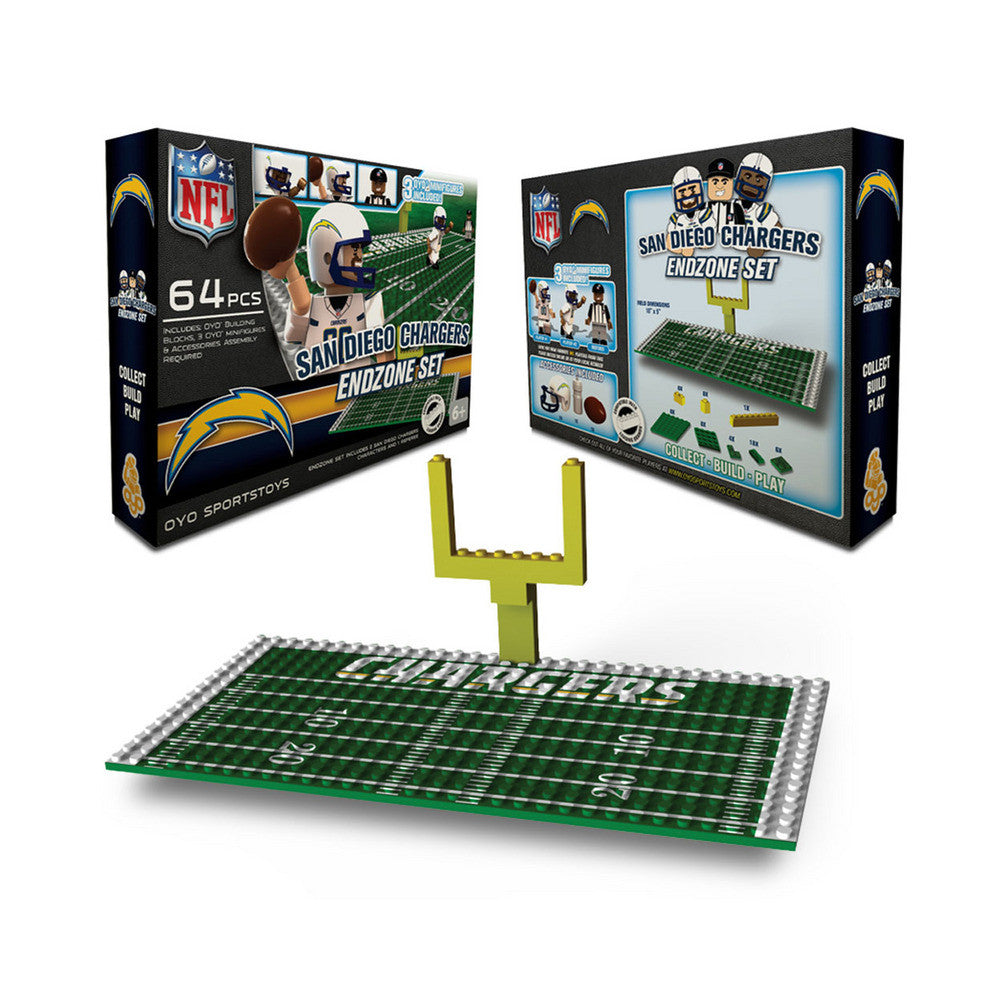 OYO NFL Endzone Set - San Diego Chargers