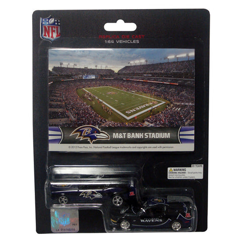 Ford Mustang And Dodge Charger 1:64 Scale Diecast Cars - Baltimore Ravens - Peazz.com