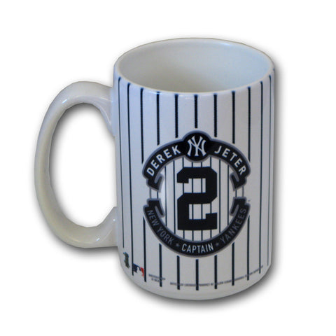 15 oz Derek Jeter Striped Retirement Mug - Peazz.com