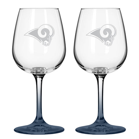 12Oz Nfl/Rams 2Pk Wine - Peazz.com