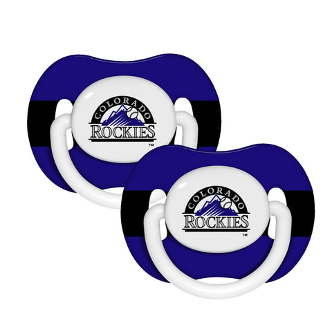 2-Pack Pacifiers - Colorado Rockies - Peazz.com