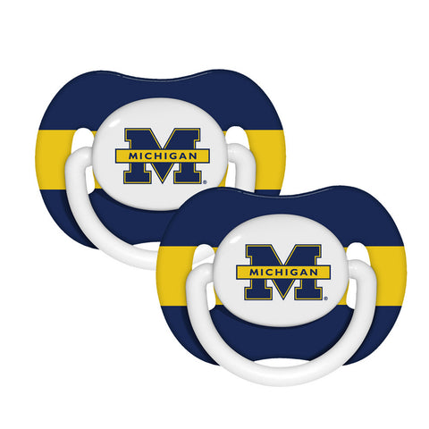 Baby Fanatic 2 Pack Pacifiers - University of Michigan Wolverine - Peazz.com