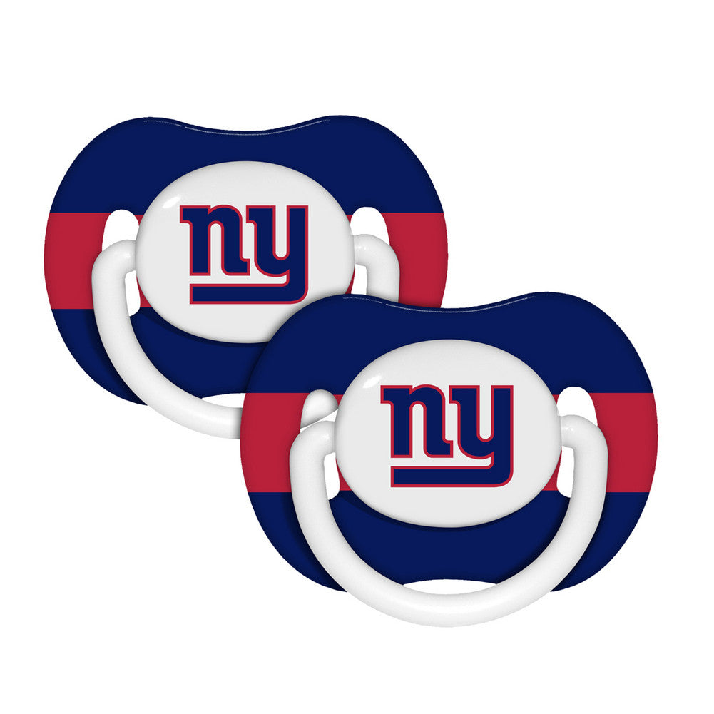 Baby Fanatic Baby Pacifiers 2-Pack - New York Giants