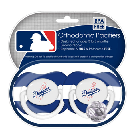 2-Pack Pacifiers - Los Angeles Dodgers - Peazz.com