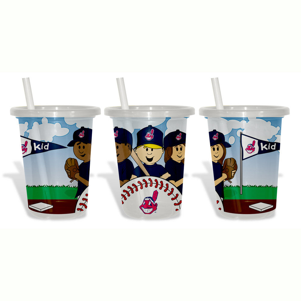 Baby Fanatic Sip N Go 3 Pack of Cups - Cleveland Indians