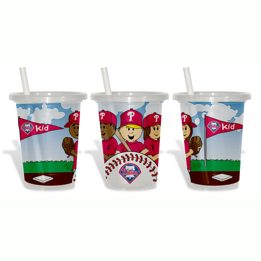 Baby Fanatic Sip N Go 3 Pack of Cups - Philadelphia Phillies SPI-BFBBPHISGC