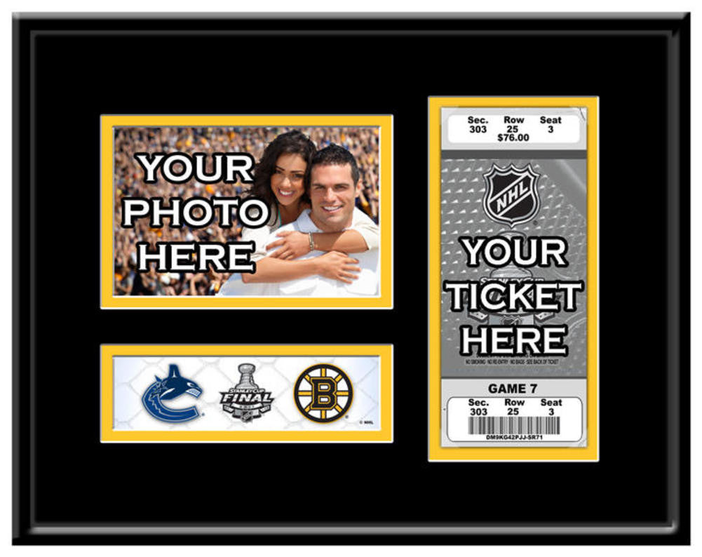 Boston Bruins 2011 Stanley Cup 4X6 Photo & Ticket Frame