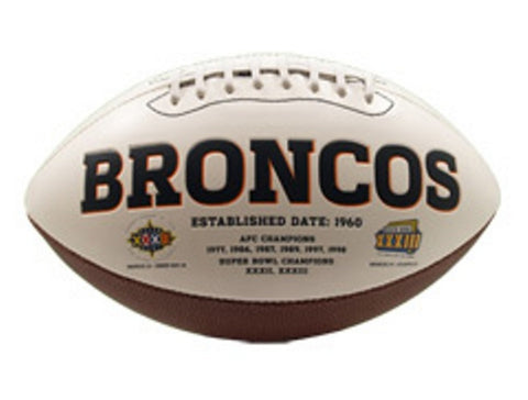 Signature Series Team Full Size Footballs - Denver Broncos - Peazz.com