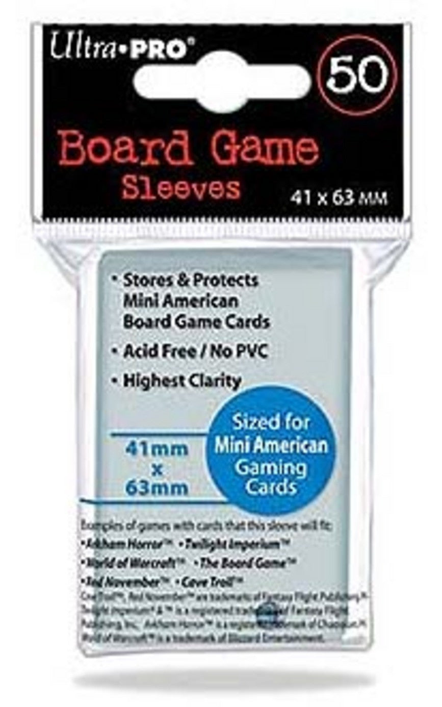 Ultra Pro Board Game Sleeves 41X63Mm - Mini American Sleeve (50 Sleeves) SPI-UP82662