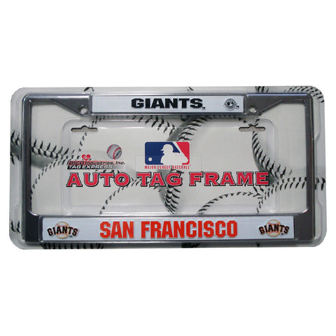 Chrome License Plate Frame - San Francisco Giants - Peazz.com