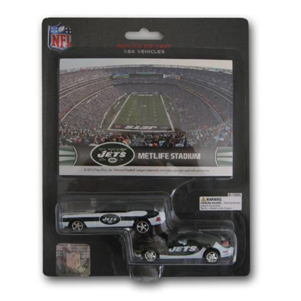 Ford Mustang And Dodge Charger 1:64 Scale Diecast Cars - New York Jets