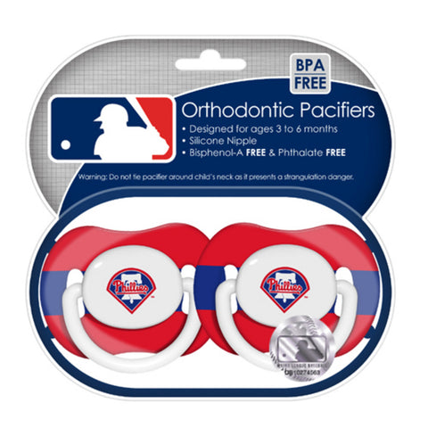2-Pack Pacifiers - Philadelphia Phillies - Peazz.com