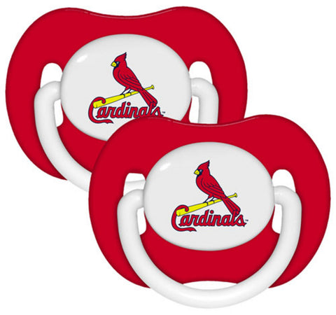 2-Pack Pacifiers - St. Louis Cardinals - Peazz.com
