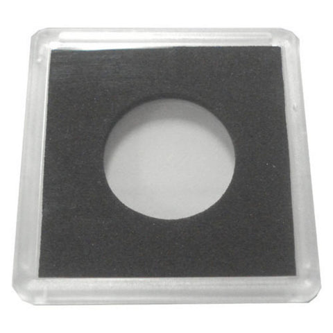 2X2 Plastic Coin Holder With Black Insert - Quarter (25 Holders) - Peazz.com