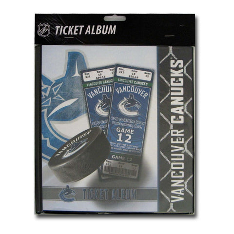 Ticket Album NHL - Vancouver Canucks (Holds 96 Tickets) - Peazz.com