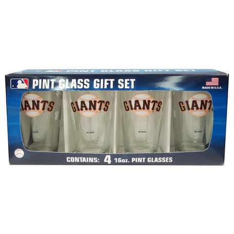 4 Pack Pint Glass MLB - San Francisco Giants - Peazz.com