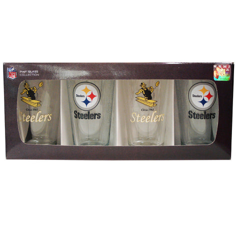 4 Pack Pint Glass NFL - Pittsburgh Steelers - Peazz.com