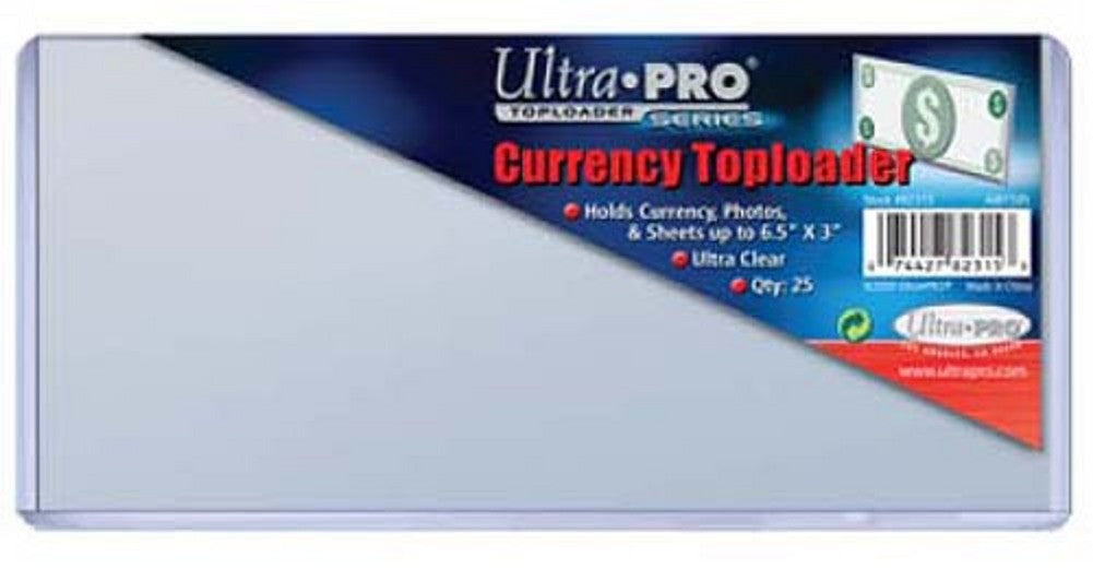 Ultra Pro Currency 6.5X3 Topload 82315