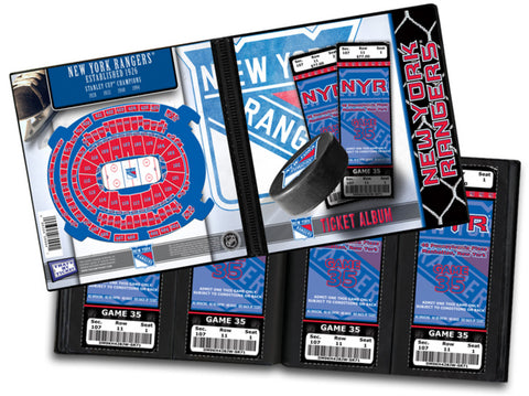Ticket Album NHL - New York Rangers (Holds 96 Tickets) - Peazz.com