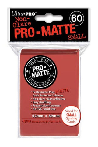 Ultra Pro Small Pro-Matte Red Deck Protector - Peazz.com