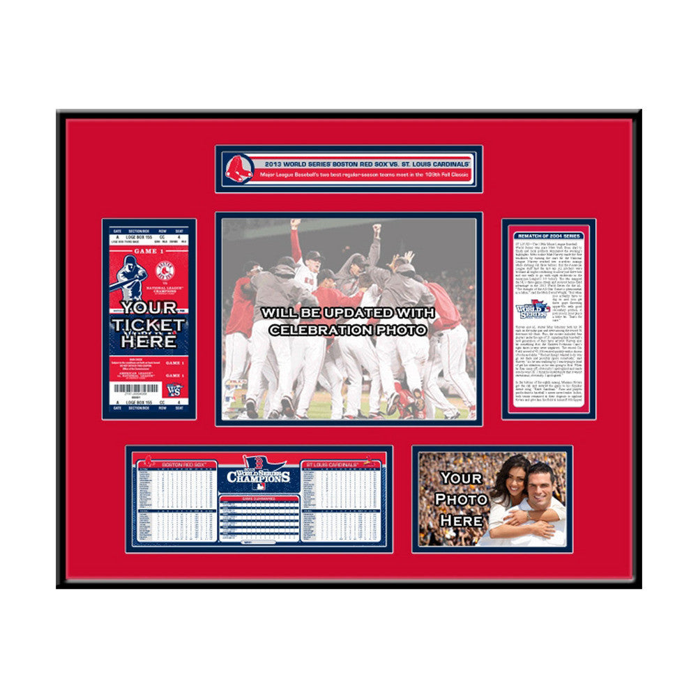 2013 World Series Champs Ticket Frame - Boston Red Sox SPI-TFRBBBOSWSC13