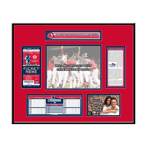 2013 World Series Champs Ticket Frame - Boston Red Sox - Peazz.com
