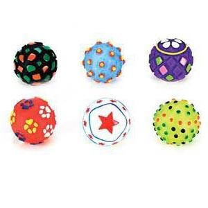 Vinyl Balls For Puppies 6pc Clip Strip - Peazz Pet