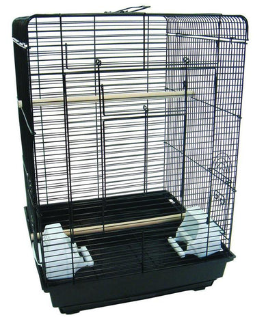 "YML Group 1624BLK 3/8 Flat Top Cage in 16x16"", Black - Peazz Pet"