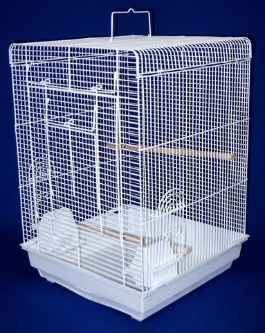 "YML Group 1624WHT 3/8 Flat Top Cage in 16x16"", White - Peazz Pet"