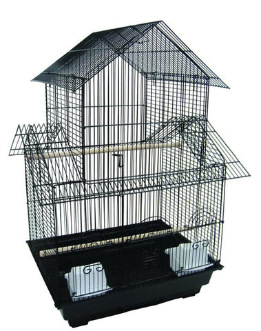 "YML Group 1644BLK 3/8"" Pagoda Top Cage 16x16"", Black - Peazz Pet"